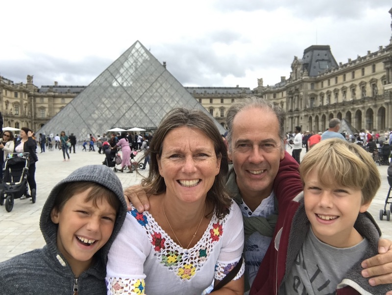 Mireille en haar gezin in 2020