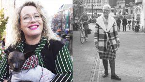 Bho en Sjimmie spotten gedurfde outfits in Leiden: 'Koopjes, daar hou ik van.'