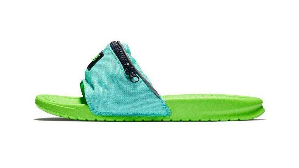 Handig voor op het strand: Nike komt met fanny pack-slippers