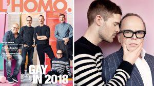 Vanaf morgen ligt de nieuwe L'HOMO. in de winkel, maar dit is alvast de cover
