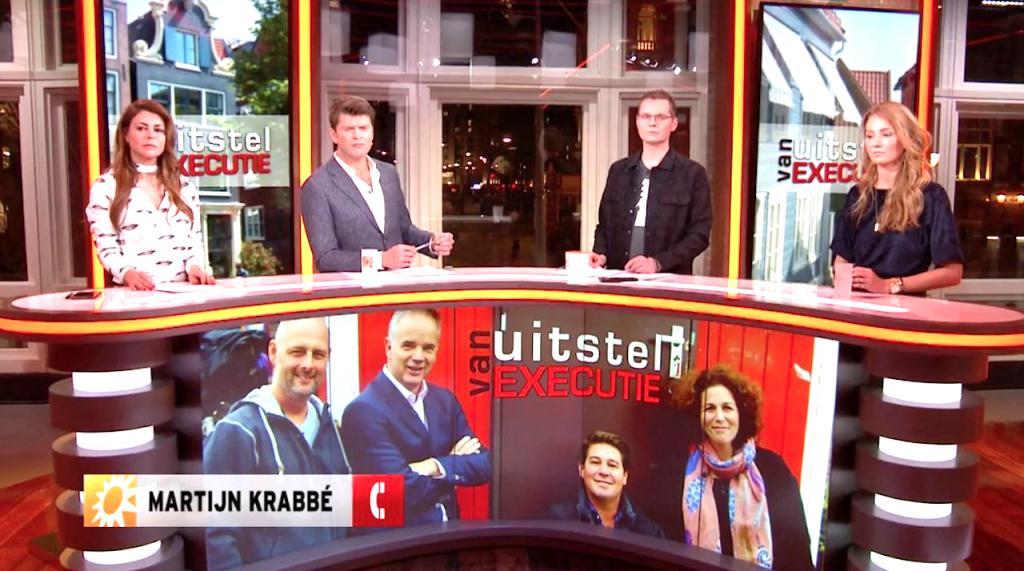 Presentator Martijn Krabbé neemt het op voor deelnemer Karin na boze reacties 'Uitstel van Executie'