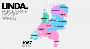 Dit is de populairste meisjesnaam per jaar én provincie (vanaf 1967)