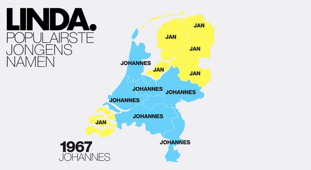Dít Is De Populairste Jongensnaam Per Jaar én Provincie Vanaf 1967