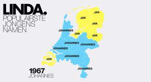 Dít is de populairste jongensnaam per jaar én provincie (vanaf 1967)