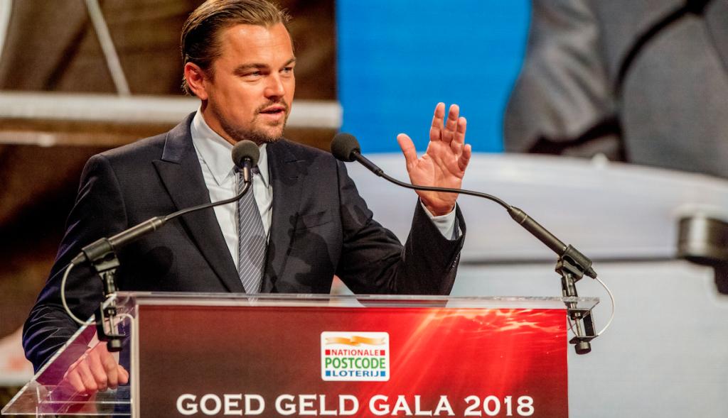 Leonardo DiCaprio maakt indruk met speech over klimaatverandering in Amsterdam
