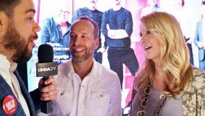Janice spreekt Linda de Mol en vele andere BN'ers op de lancering van L'HOMO.10