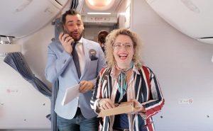 Het LINDA.vliegtuig vloog met 150 lezeressen naar Milaan. En dat zag er zó uit