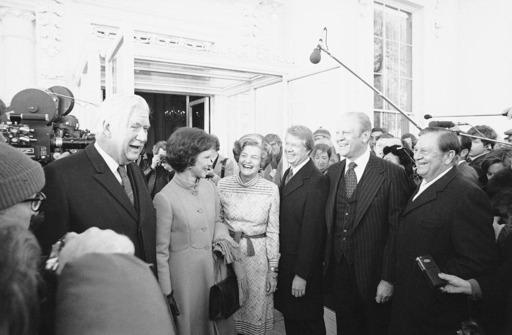 Jimmy en Rosalynn kregen in 1977 zelf een rondleiding van voorgangers Gerald en Betty Ford: