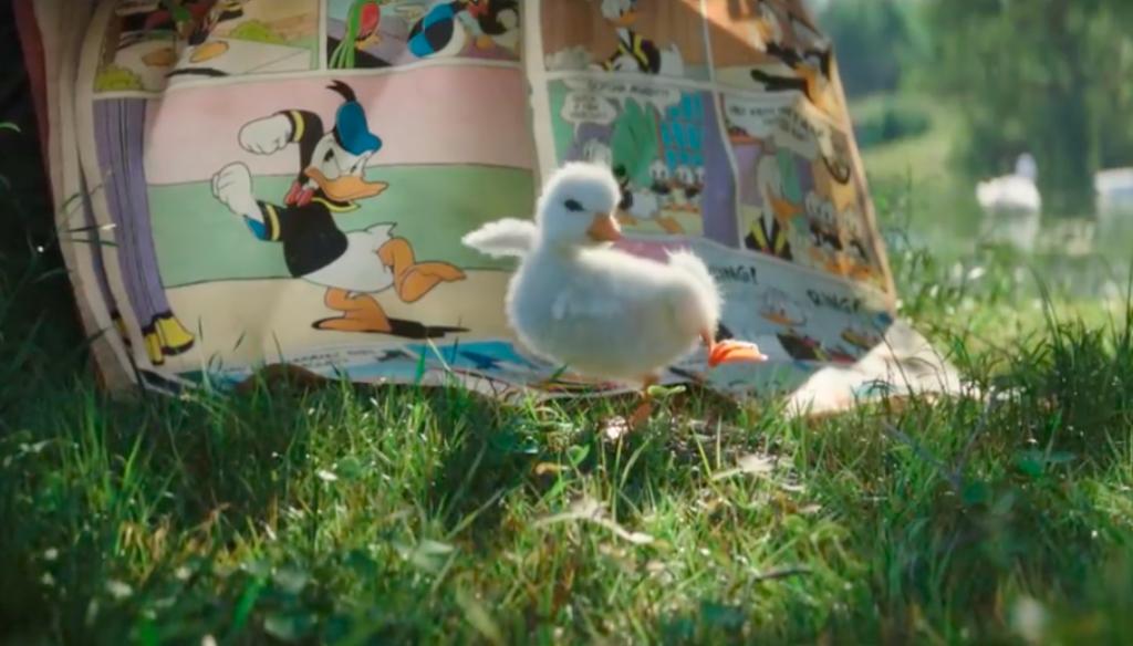 Disney-reclame waarin baby-eend zijn held Donald Duck ontmoet is weer zo'n tranentrekker