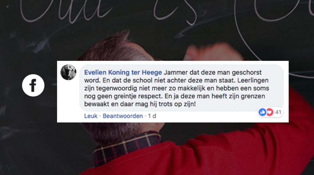 11 x óók jullie steunen de geschorste leraar Gerrit Keeman die leerling 'greep'