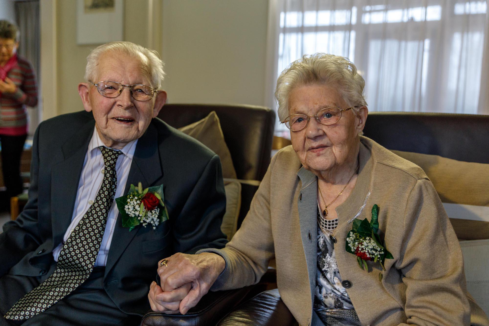 Arend en Aaltje zijn 81 jaar getrouwd