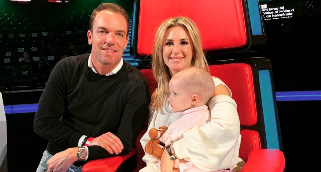 Chantal Bles met dochter bij The Voice