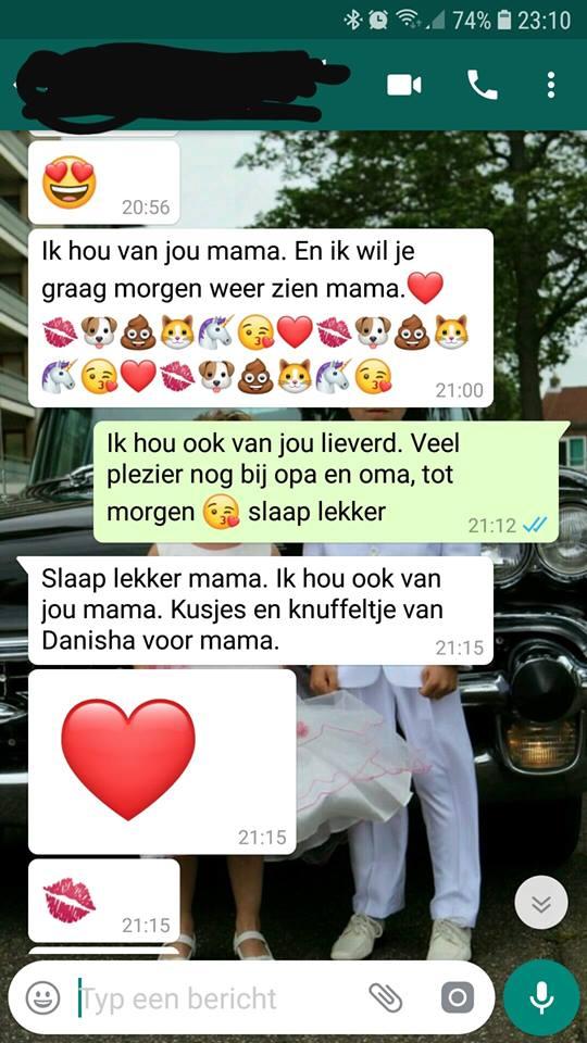 Bianca Dewnarain Whatsapp gesprek moeder dochter