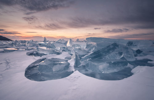 Ice in Lake Baikal
