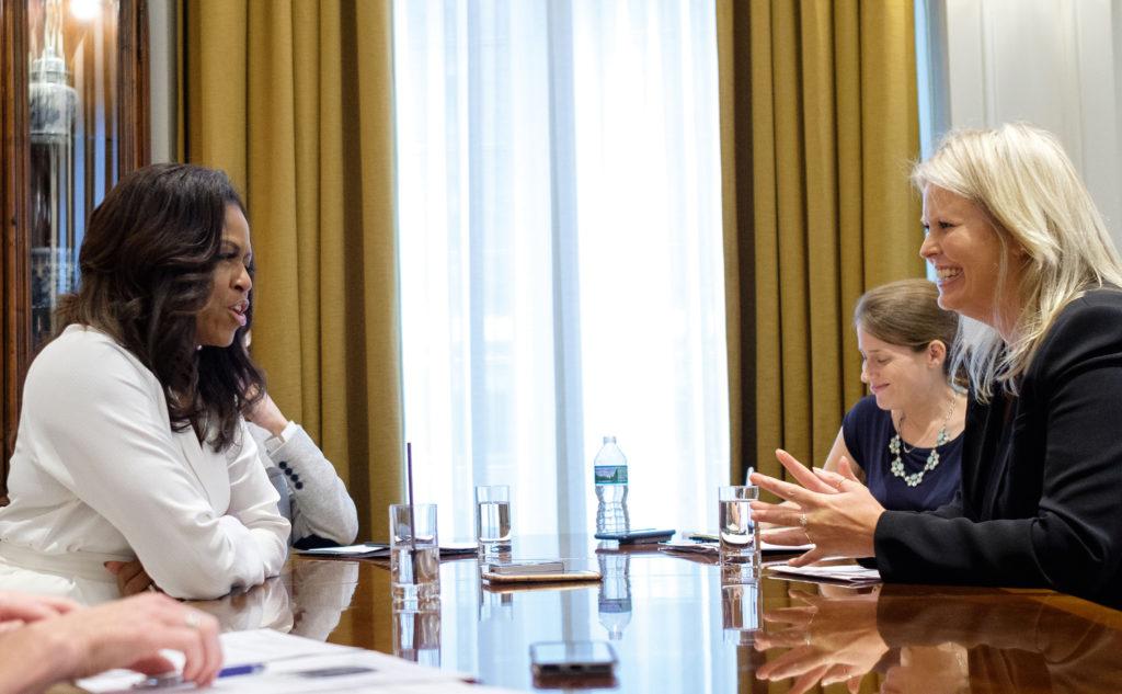 Michelle Obama en Antoinette Scheulderman, interview LINDA.