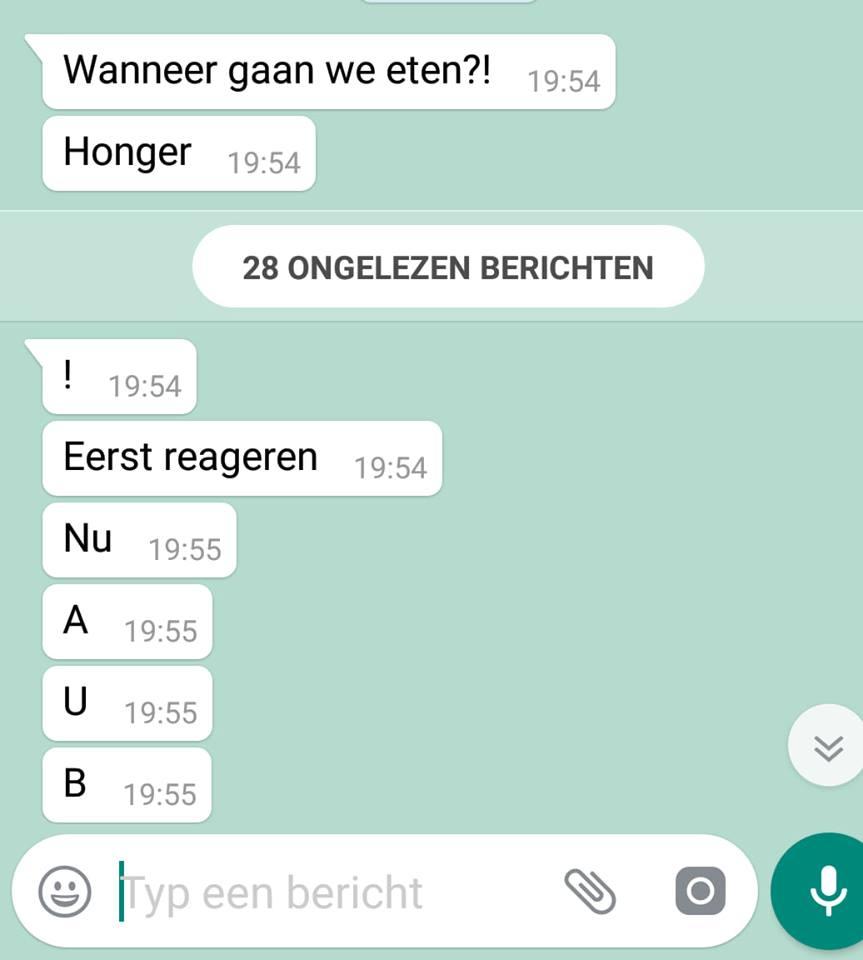 WhatsApp gesprek Ilona van Tilborg-Monteau Dochter ( 12) mocht meteen telefoon het weekend inleveren
