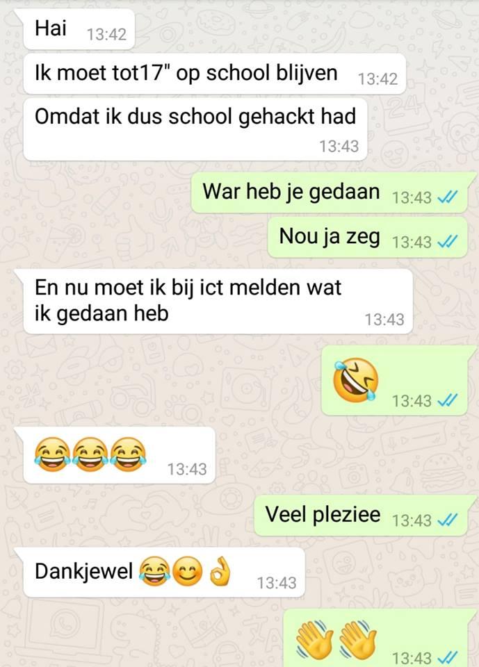 WhatsApp gesprek Jolanda Houkes
