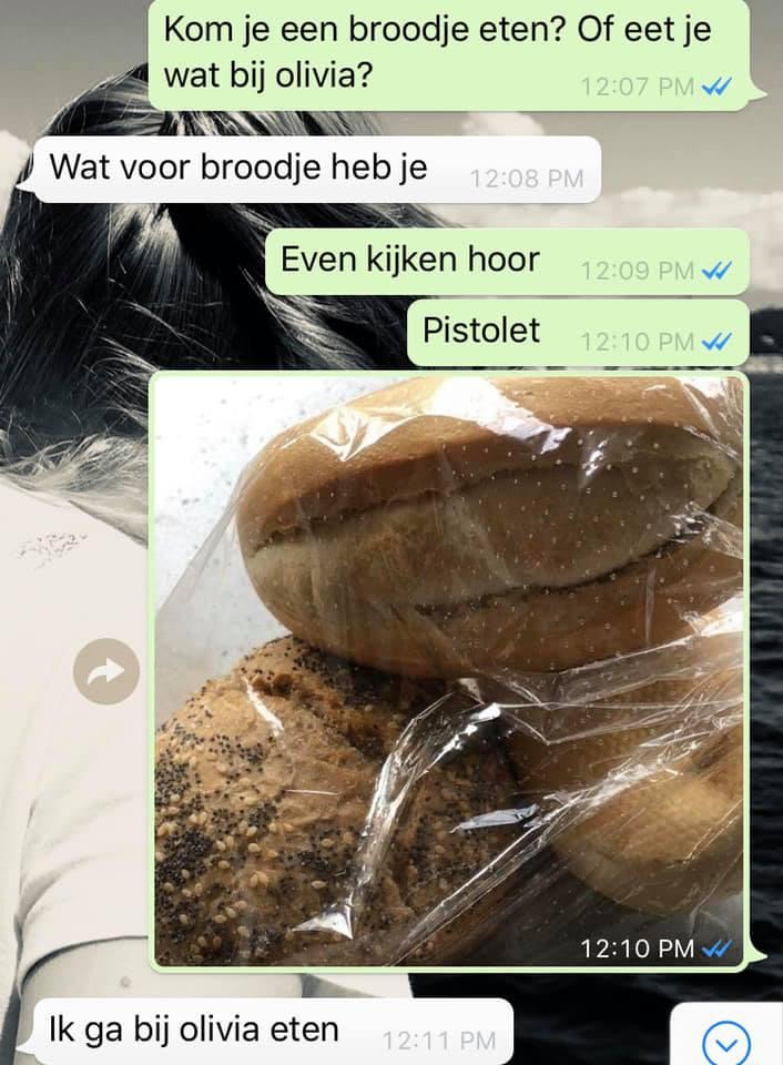 WhatsApp gesprek Martine Groeneveld Dochter van 8 checkt eerst even of de lunch wel naar wens is