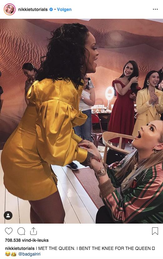 Nikkie de Jager ontmoet Rihanna in London