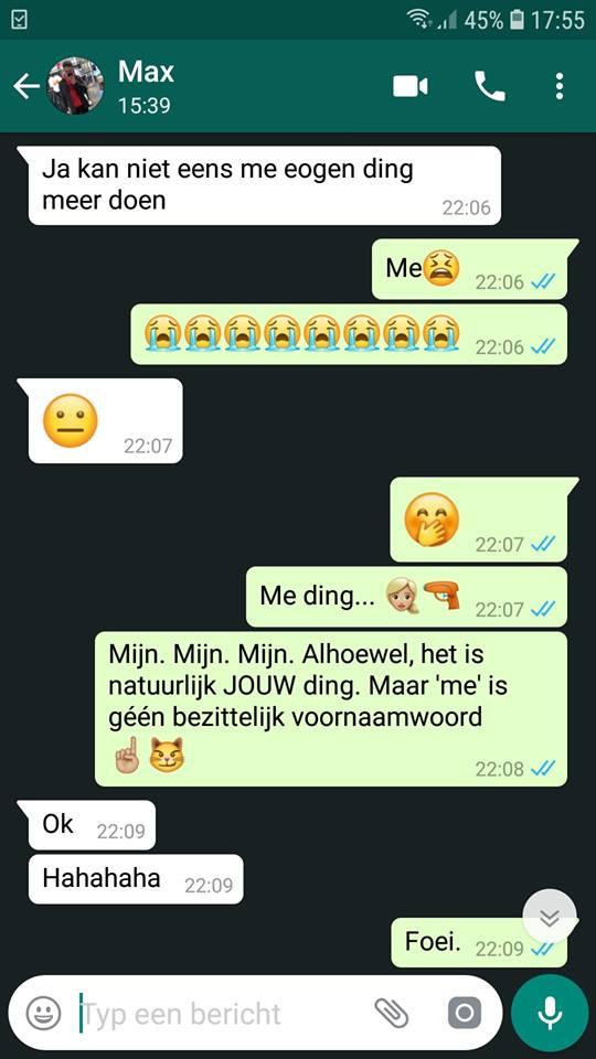 WhatsApp gesprekken met kinderen taal