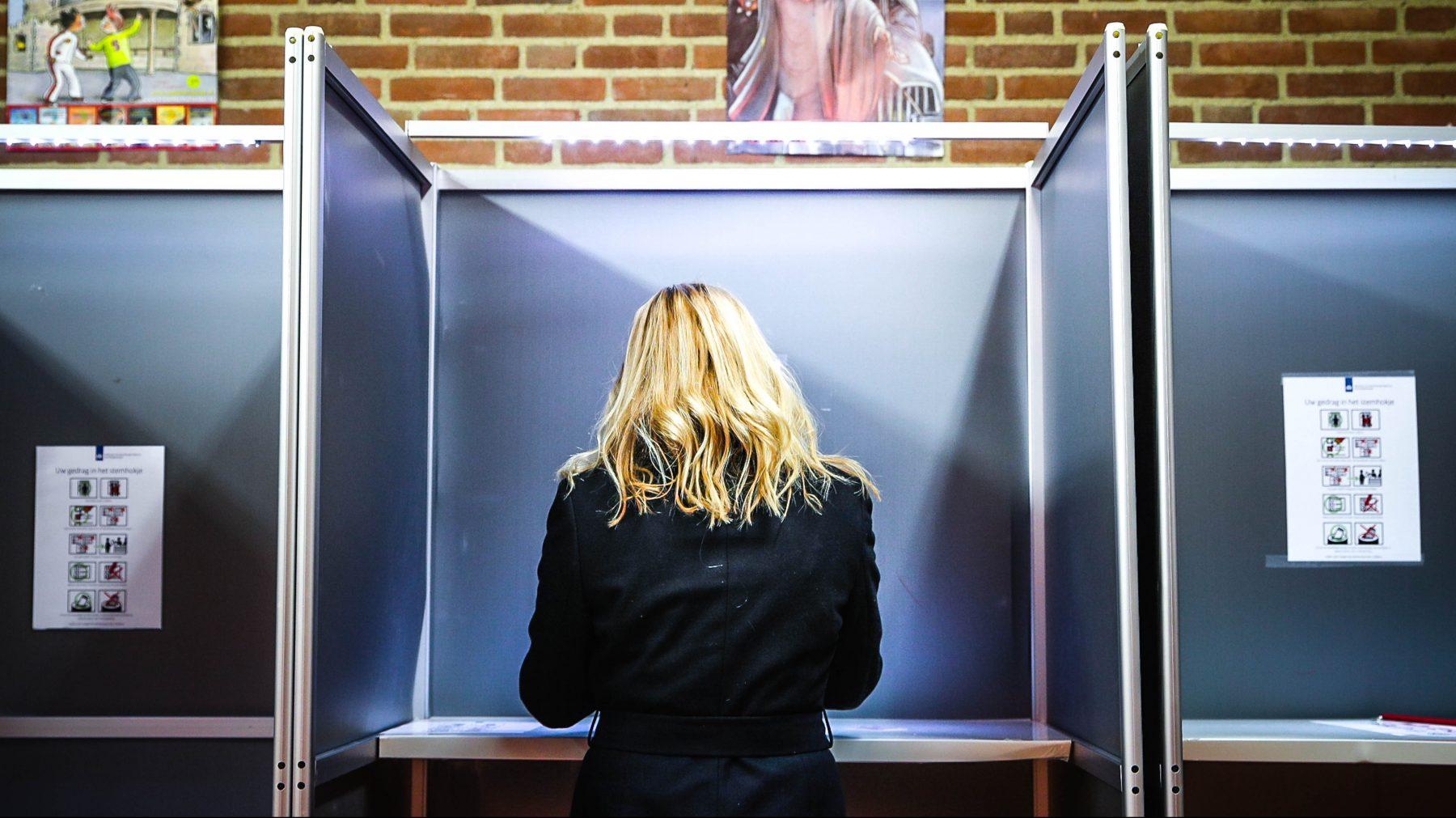 stemmen op een vrouw