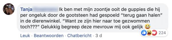 Tanja's facebookpost