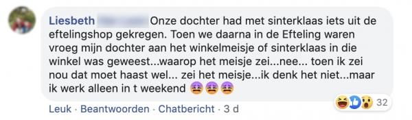 Liesbeths facebookpost