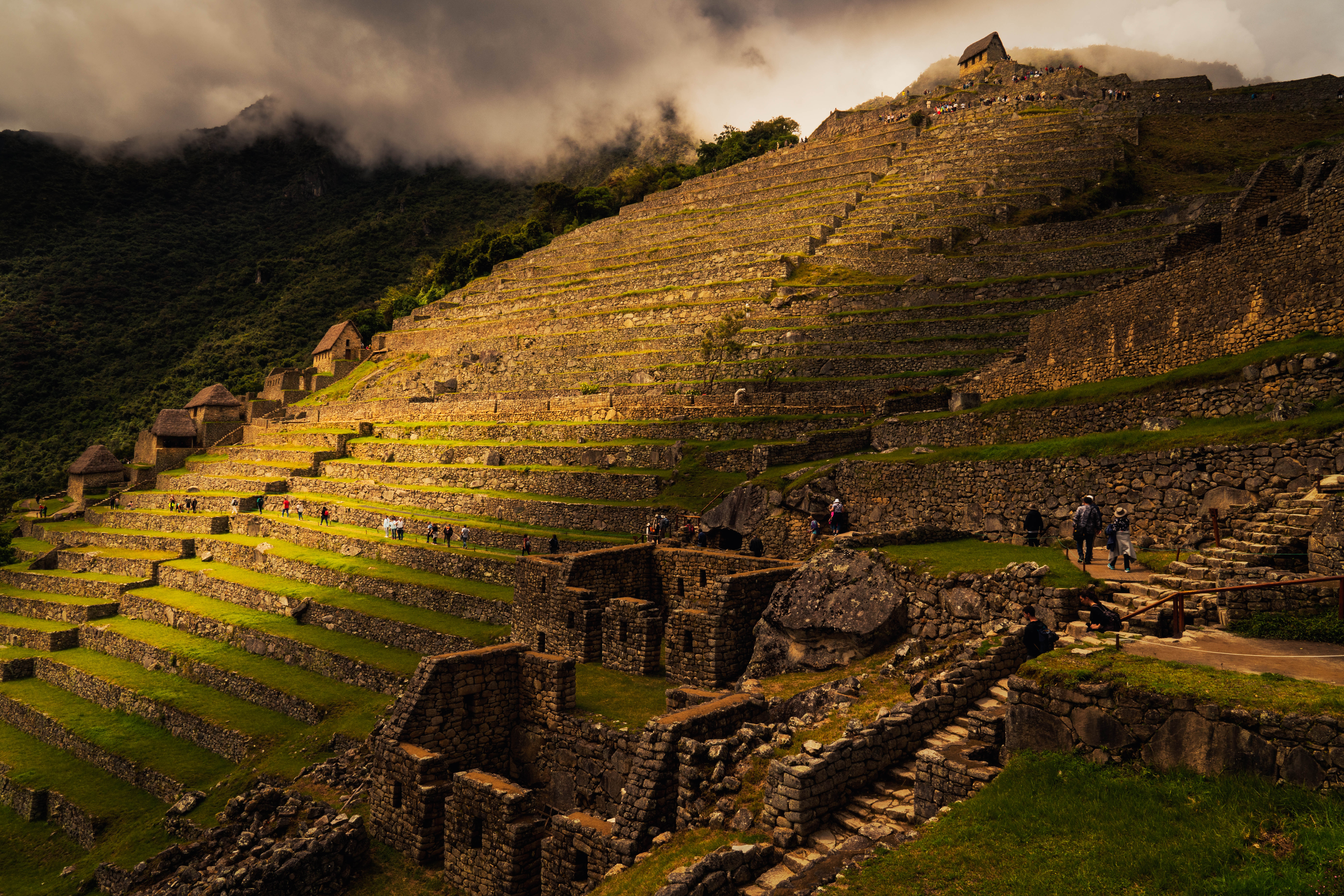 The guard house and stair terraces of Machu Picchu