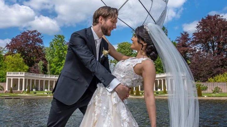 Sara en Willemjan op hun bruiloft