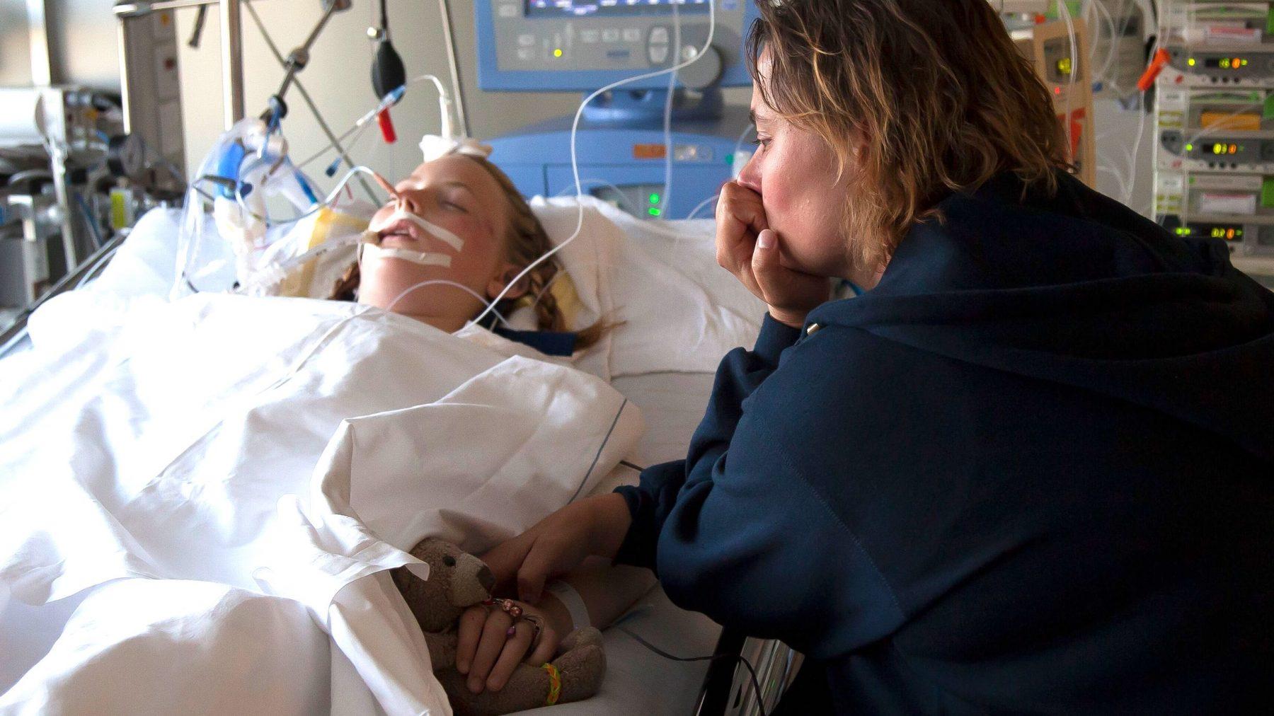 Karins dochter Vanja lag in coma na een ongeluk