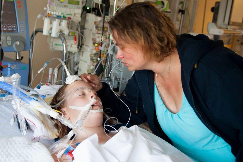 Vanja lag in een kunstmatige coma