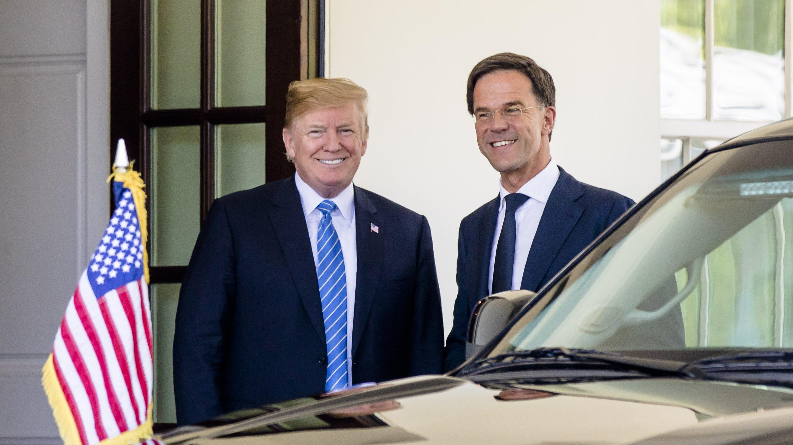 Premier Mark Rutte bezoekt Trump voor de tweede keer in het Witte Huis