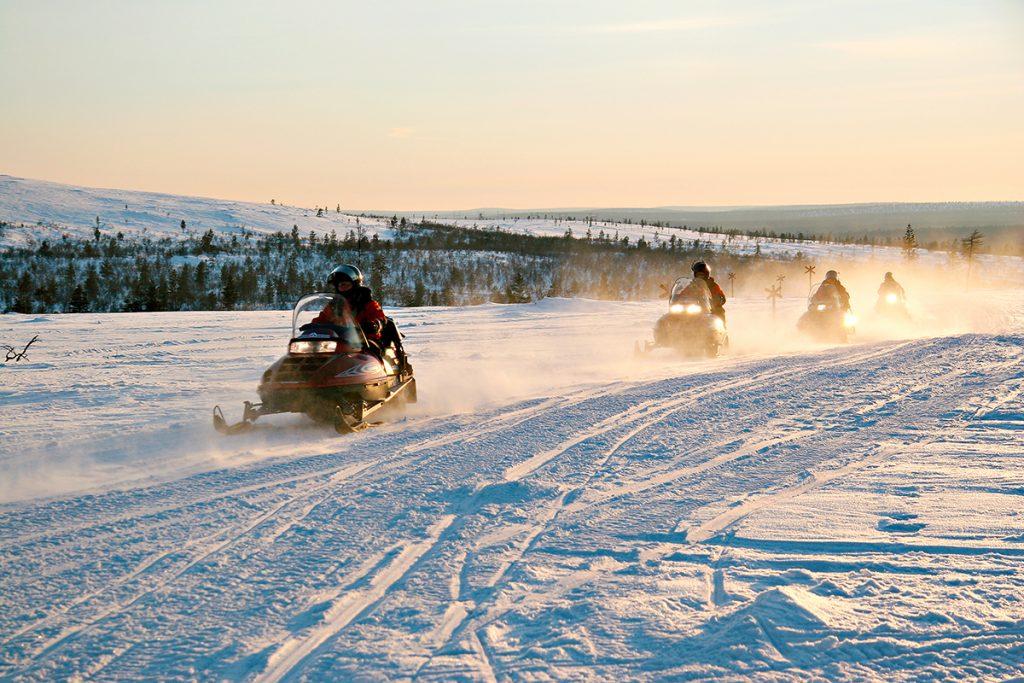 Sneeuwscooter Fins Lapland - Buro Scandit