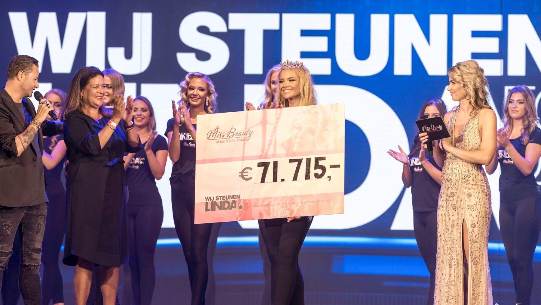 Miss Beauty of the Netherlands haalt opnieuw recordbedrag op voor LINDAfoundation