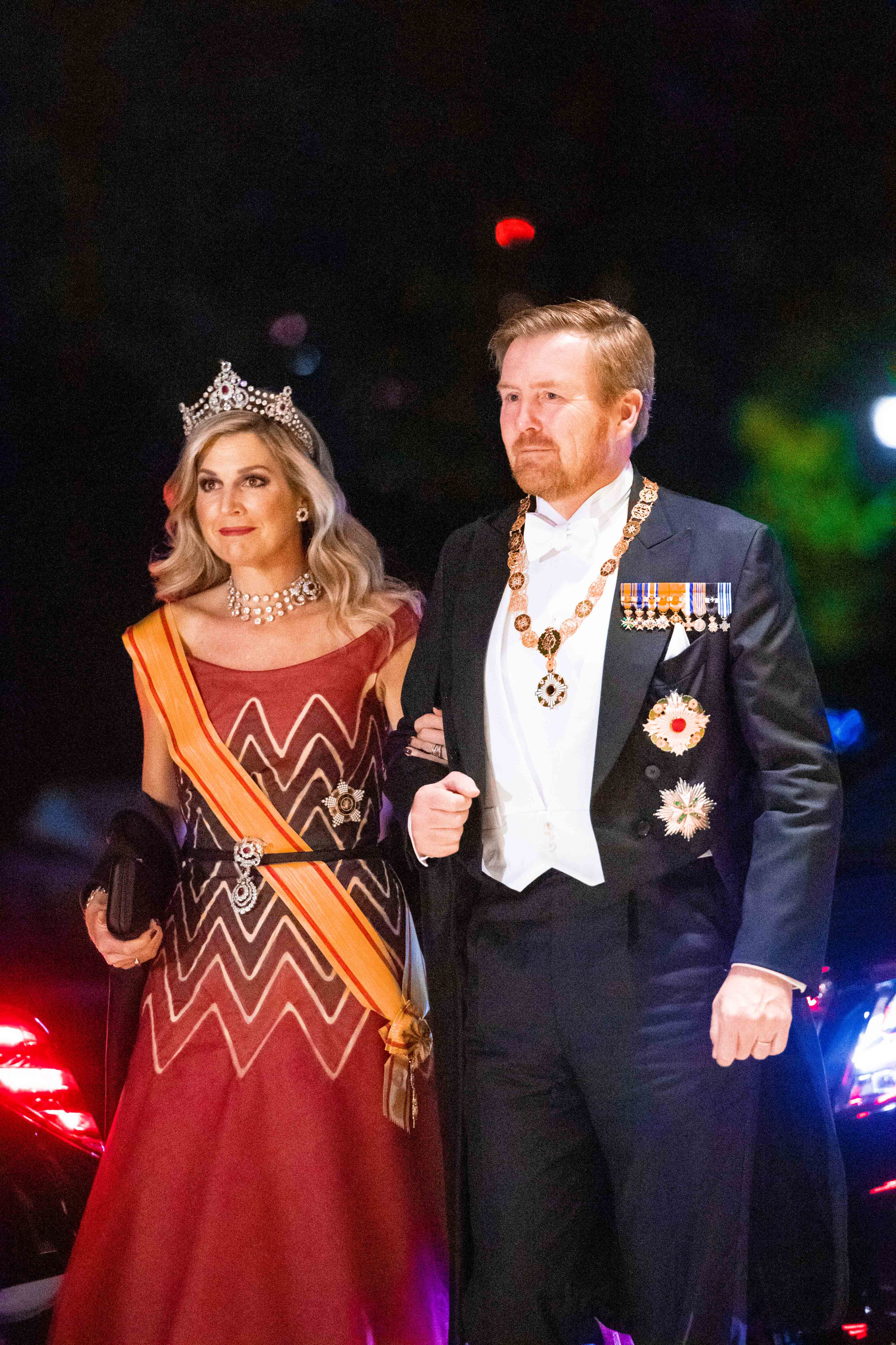Koningin Máxima op haar allermooist tijdens galadiner Japan