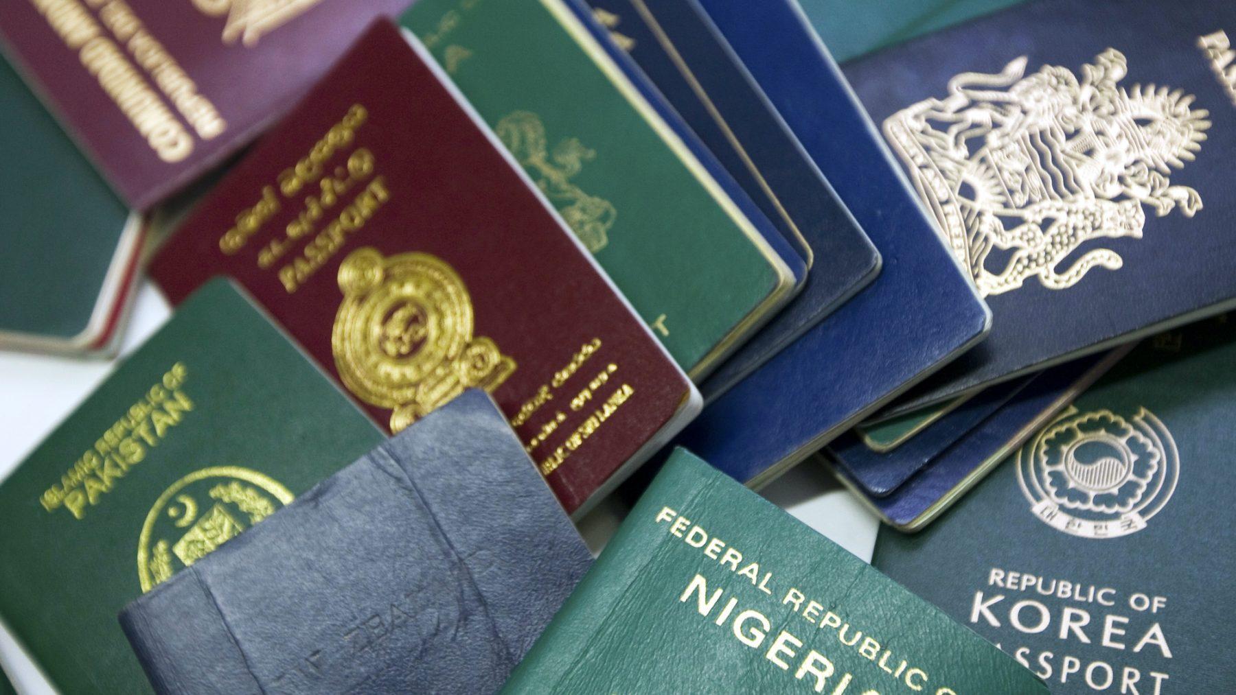 Kleur van het paspoort