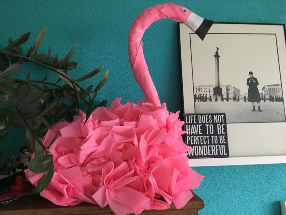 surprise flamingo