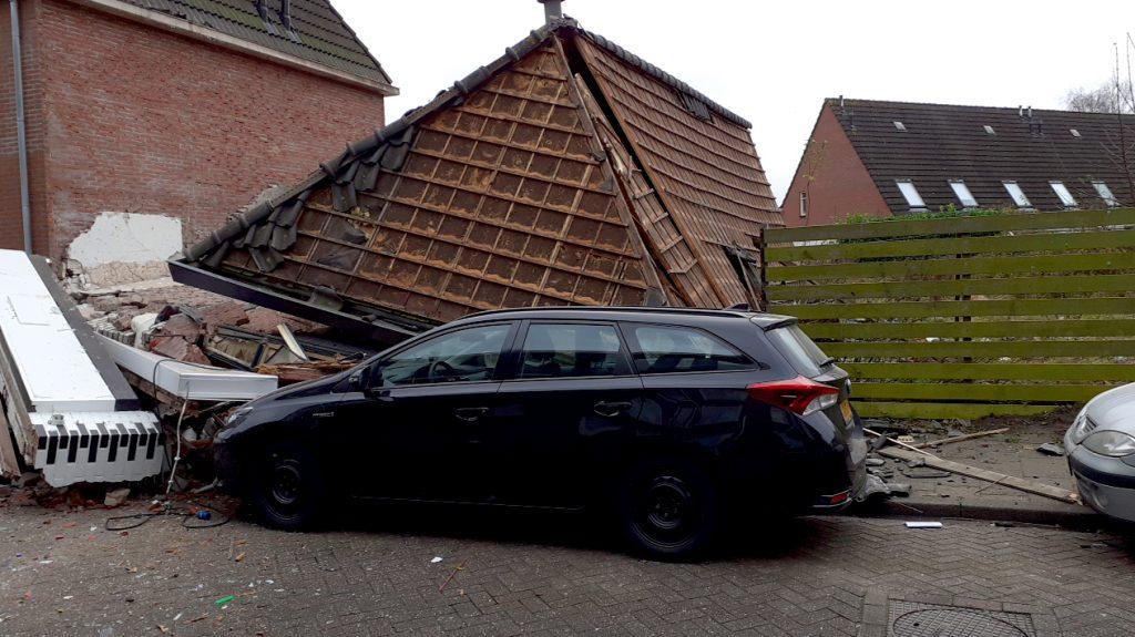 Pand in Coevorden ingestort door explosie, meerdere gewonden
