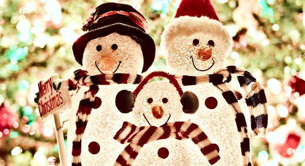 Oproep kerstversiering sneeuwmannen
