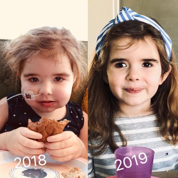 Fleur in 2018 en in 2019