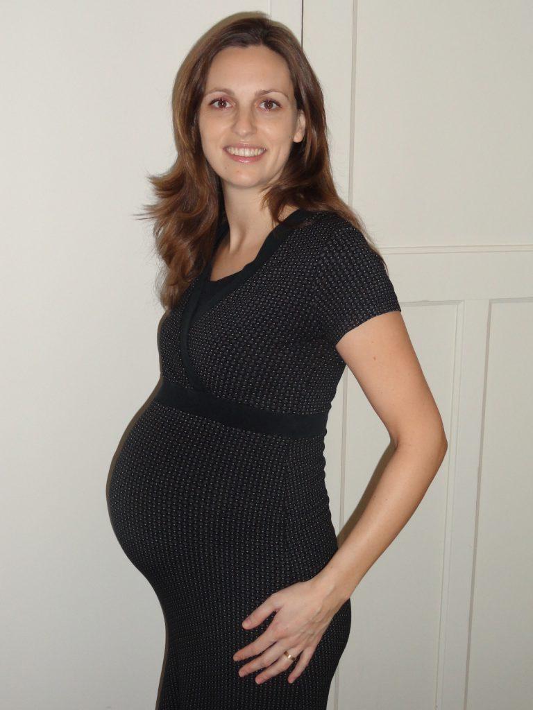 Judith tijdens de zwangerschap - bevalling rond jaarwisseling