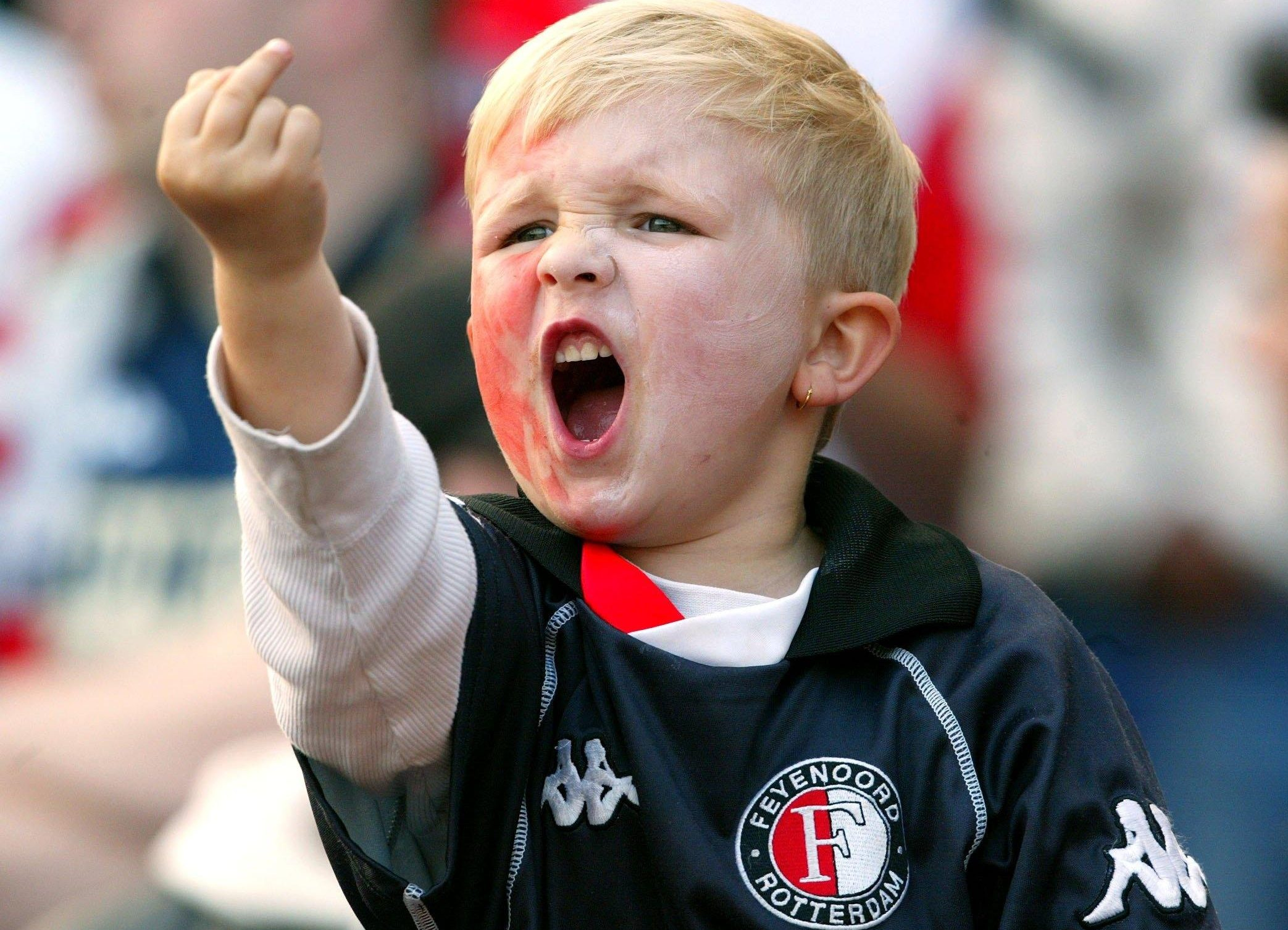 Feyenoord middelvingertje