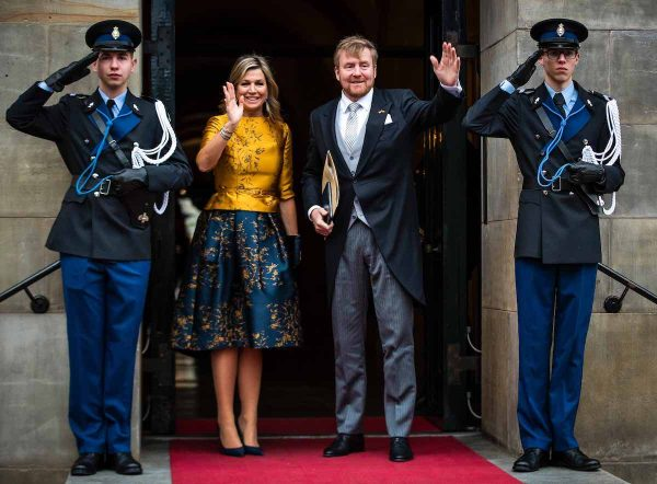 Willem-Alexander en Maxima nieuwjaarsontvangst