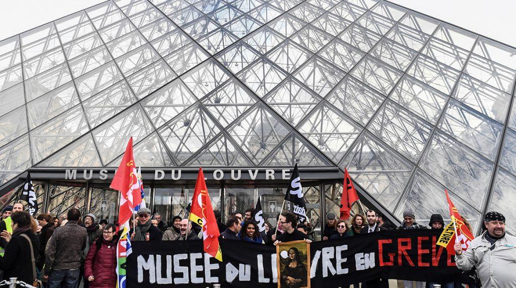 Louvre in Parijs dicht wegens blokkade demonstranten