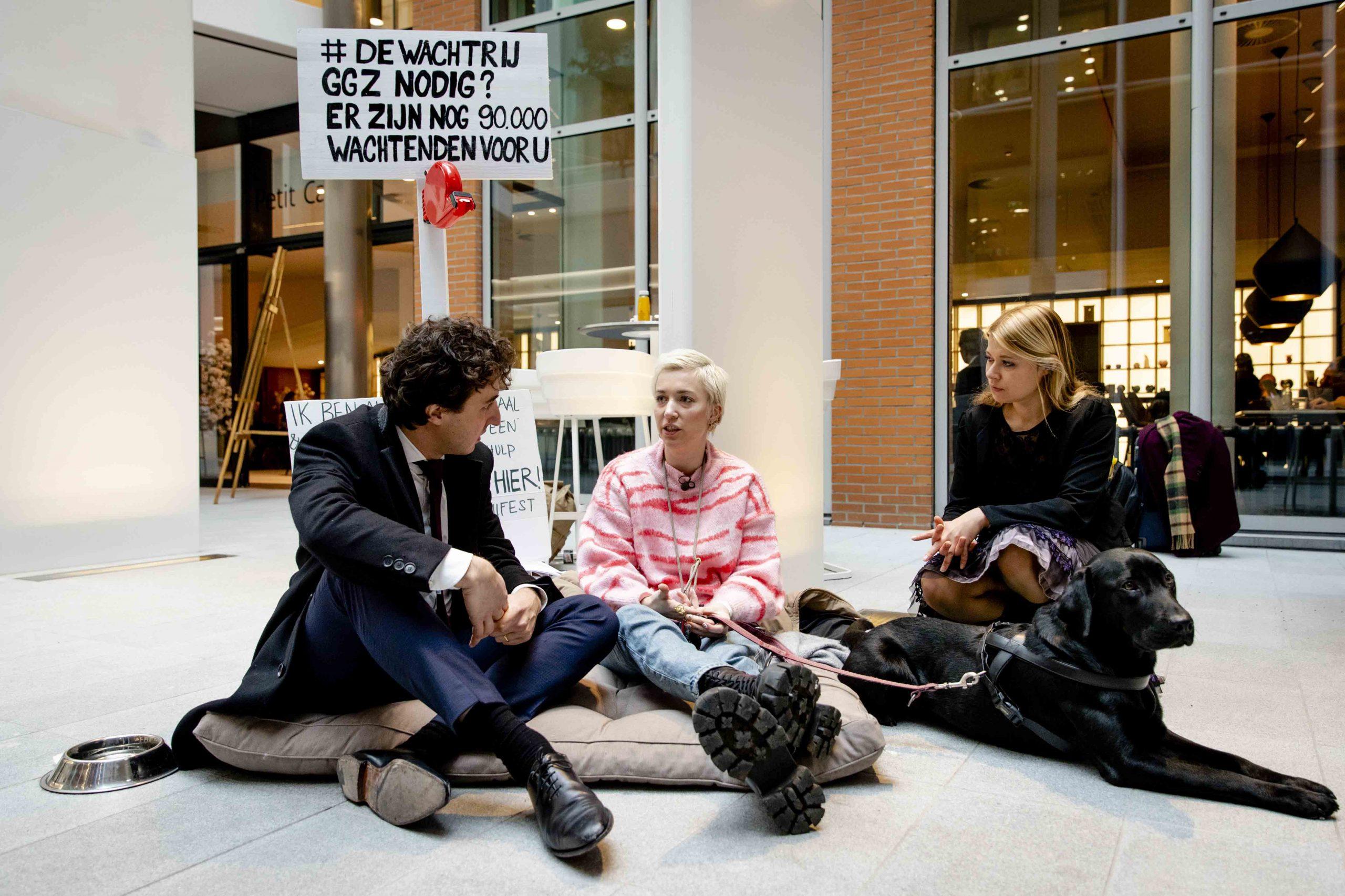 Protest tegen wachtlijsten GGZ