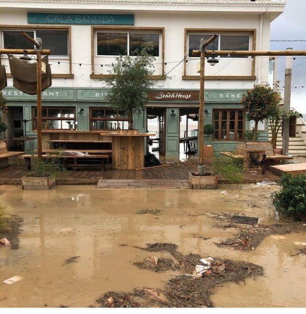 Spanje Jávea nadat Storm Gloria over het land heenraasde alles is verwoest