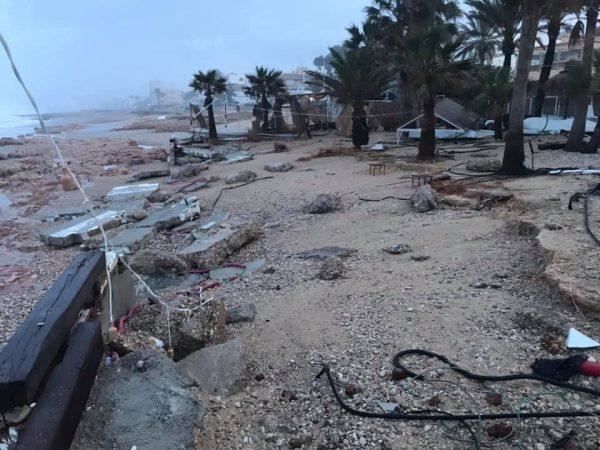 Spanje Jávea nadat Storm Gloria over het land heenraasde alles is verwoest1