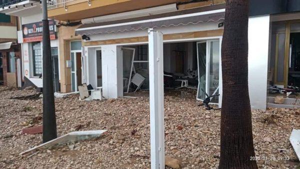 Spanje Jávea nadat Storm Gloria over het land heenraasde alles is verwoest14