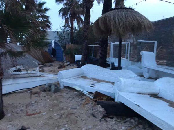 Spanje Jávea nadat Storm Gloria over het land heenraasde alles is verwoest2