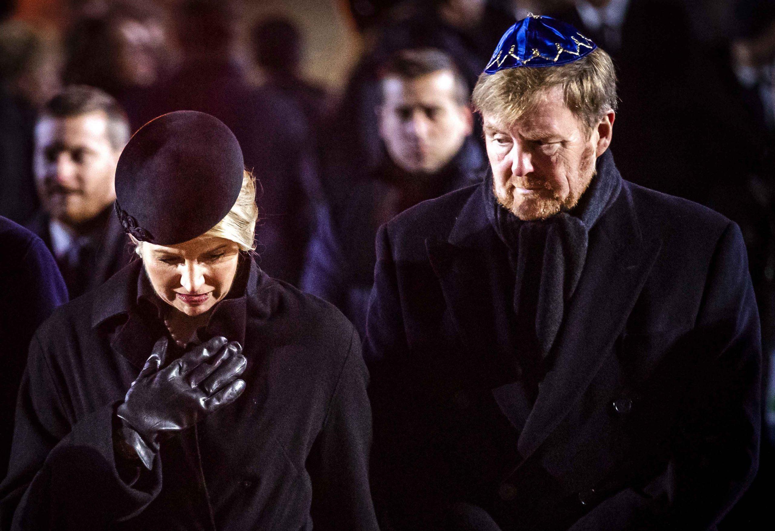 koningin-maxima-koning-willem-alexander-in-Auschwitz-herdenking-75-jaar-vrijheid-Polen